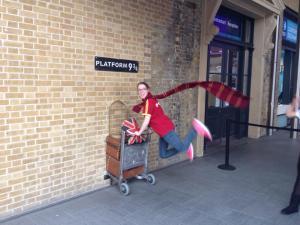 Beyond excited at Platform 9 3/4.